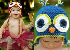 want this owl crocheted beanie hat