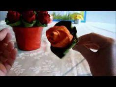 Confecção de rosas em tecido - lindas!