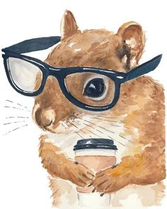You only need glasses and coffee to look smart!