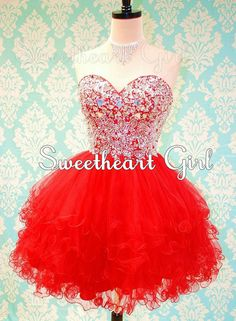 Cute sweetheart mini ball gown prom dress/homecoming dress