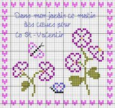 Dans mon jardin ce matin des coeurs pour la St Valentin (In my garden this morning, hearts for Valentine's Day) - Les chroniques de Frimousse