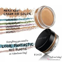 My go-to eye shadow! A quick swipe is all you need - crease free and water resistant  Visit: www.marykay.com/lflocken Call or text (440) 503-0744