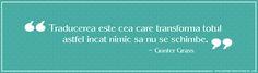 Traducerea este cea care transformă totul astfel încât nimic să nu se schimbe - Günter Grass http://axiotime-translations.ro/blog/