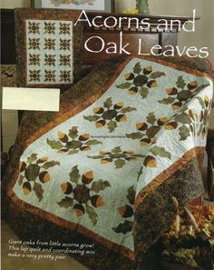 Acorns And Oak Leaves Quilt Pattern Pieced/Applique LF