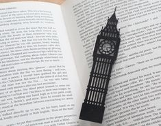 Big Ben Silhouette papercut Bookmark