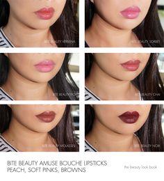 The Beauty Look Book: Bite Beauty Amuse Bouche Lipsticks - Verbena, Sorbet, Fig, Chai, Molasses and Nori