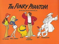 Hanna-Barbera's The Funky Phantom publicity sheet, 1970 / kerrytoonz, via Flickr