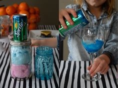 Cotton Candy + Liquid = the best magic disappearing cotton candy drink that's going to make you the best mom for the day (so awesome! 28th Birthday, Birthday Brunch, Boy Birthday, Cotton Candy Drinks, Cotton Candy Champagne, Best Mom, Kids Meals, First Birthdays, Cake Decorating