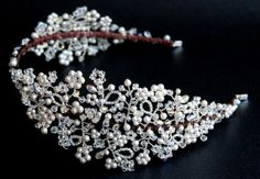 Bridal+Vintage+Style+Flower+Pearl+and+Crystal+от+JoannaReedBridal,+£295.00