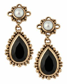 Agate-Pearl Drop Earrings by Stephen Dweck at Last Call by Neiman Marcus.
