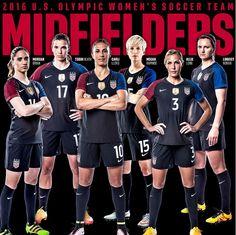 Midfielders, 2016 Olympic team. (U.S. Soccer)