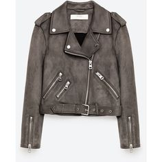 SUEDE EFFECT JACKET - Jackets-OUTERWEAR-WOMAN | ZARA United Kingdom (£52) ❤ liked on Polyvore featuring outerwear and jackets