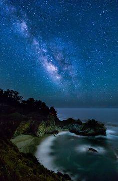 McWay Milky Way, McWay Falls, Big Sur, California