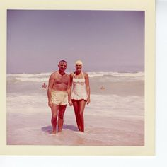 Beach holiday 1960s