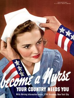 Cadet Nurse Corps posters from World War 2
