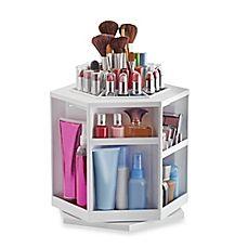 image of Lori Greiner® Spinning Cosmetic Organizer in White