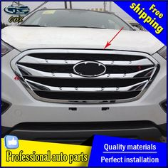 For Hyundai rim AKD car styling For Hyundai Chrome Racing Grills decorative modified special Chrome Racing Gr Hyundai Suv, Grills, Chrome, Racing, Car, Spare Room, Automobile, Running, Auto Racing