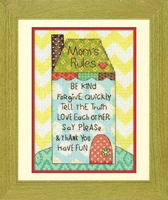 Mom's Rules kit (cross stitch)