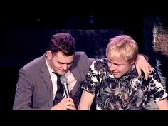 Michael Buble brings 15 year old on stage to sing with him - I got chills when I watched this.  So cool.