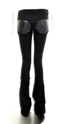 ALEXANDER-McQUEEN-SKULL-ANGELS-APPLIQUE-DENIMS-JEANS-TROUSERS-UK-6-US-4-UNIQUE Alexander Mcqueen, Unique Fashion, Jeans, Applique, Angels, Trousers, Skull, Store, Shopping