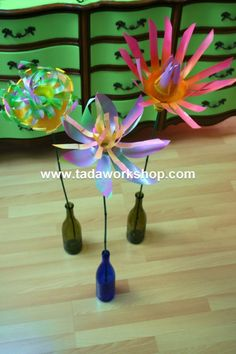 Recycled Plastic Garden Flowers