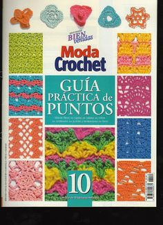 Revistas de manualidades Gratis: Revista Moda Crochet gratis. 10 Crochet Afgans, Crochet Poncho, Crochet Motif, Crochet Patterns, Moda Crochet, Crochet Stitches Chart, Crochet Symbols, Crochet Book Cover, Crochet Books
