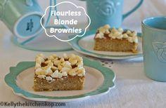 Flourless Blonde Brownies - Kelly the Kitchen Kop