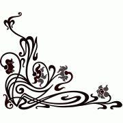 cnc world: corner decorative ornament dxf file Art Nouveau Design, Art Deco, Beaded Embroidery, Embroidery Patterns, Jugendstil Design, Celtic Designs, Room Signs, Corner Designs, Paper Background