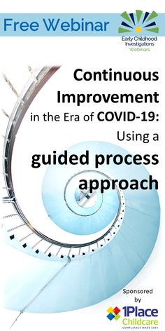 FREE webinar about using continuous quality improvement. Early Childhood Education Programs, Childcare, Investigations, Make It Simple, Learning, Free, Child Care, Studying, Parenting