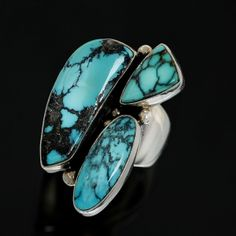 Kingman Turquoise Ring....Contemporary work from Gerturde Zachary