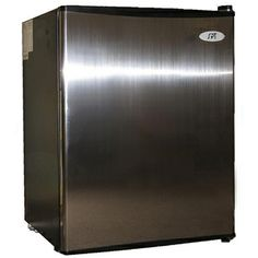 @Overstock.com - Stainless Steel 2.5-cubic-foot Energy Star Compact Refrigerator - Easily add a convenient compact refrigerator anywhere space is limited. This stainless-steel, 2.5-cubic-foot refrigerator with a flush back is perfect for college students, and its Energy Star rating means that your energy costs will remain low.  http://www.overstock.com/Home-Garden/Stainless-Steel-2.5-cubic-foot-Energy-Star-Compact-Refrigerator/5615662/product.html?CID=214117 $155.25