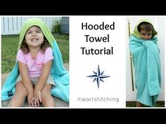 A video showing step by step to to make a hooded towel for kids