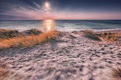 Dänischer Sonnenuntergang (Jütland), Dänemark, Dünen, Küste, Nordsee, Sonnenuntergang, Strand