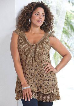 11 Best crochet plus size dresses images | Crochet plus size ...