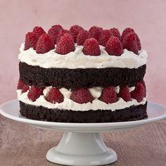gluten free Chocolate Framboise Layer Cake
