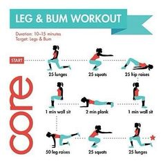 Legs & Bum 10-15 minutes workout: an easy, quick and effective routine!     - If you like this pin, repin it and follow our boards :-) #FastSimpleFitness - www.facebook.com/FastSimpleFitness