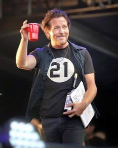 Eddie at Fenway this summer. I was there *Swoon*