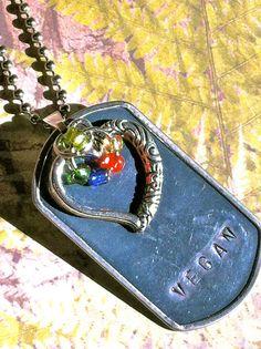 Vegan Love Necklace from the Vegan Joy by VeganHeartWare on Etsy, $12.50