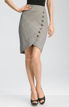 Button Down Pencil Skirt