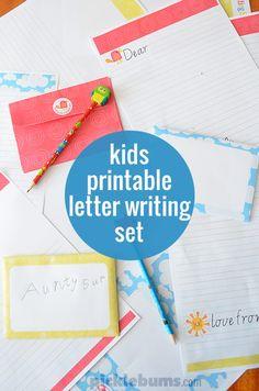 Free Printable Kids Letter Writing Set - encourage your kids to write!