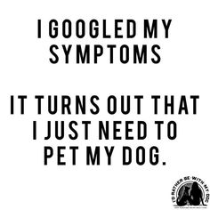 I just need to pet my dog!