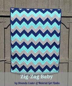 Moda Bake Shop: Zig-Zag Baby Quilt