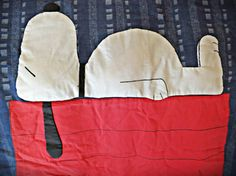 Vintage handmade Snoopy blue cotton denim twin bed duvet on Etsy, $56.00