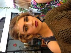 """1920's vintage make-up shoot """"great gatsby"""" themed, dark eyes & lips.... make up by me :)"""