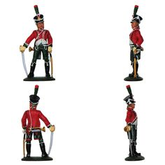 """Trompeta del 11 Regimiento de Cazadores en uniforme de gala - 1810 (Colección """"Soldados de las Guerras Napoleónicas"""" editada por delPrado - 60 mm)"""