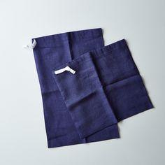 Navy Linen Bread Bags (Set of 2) on Food52