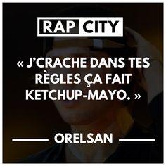 #punchline #orelsan #rap #francais Clash Rap, Phrase Rap, Rap City, Quote Citation, Affirmations, Haha, Lyrics, Music, Funny