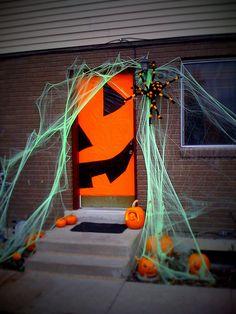 halloween decorated doors
