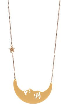 La Luna Moon Small Necklace - Gold, £40: http://www.tattydevine.com/shop/by-product/collections/aw13/la-luna-moon-small-necklace-gold.html