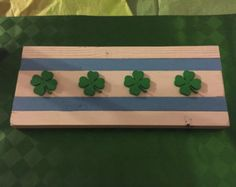 Handcrafted Wooden South Side Chicago Irish Flag by EdsShoppe